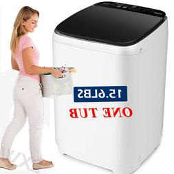 15.6lbs Full Automatic Washing Machine 2 IN 1 Portable Top L
