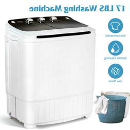 17LBS Portable Compact Washing Machine Twin Tub Spinner Wash