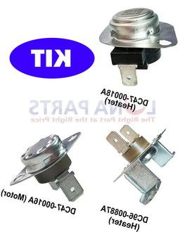 3 Pc Replacement Parts for Samsung Dryers DC47-00018A DC47-0