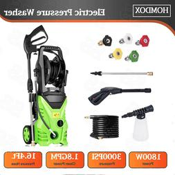 Homdox 3000PSI 1.8GPM Electric Pressure Washer Water Cleaner