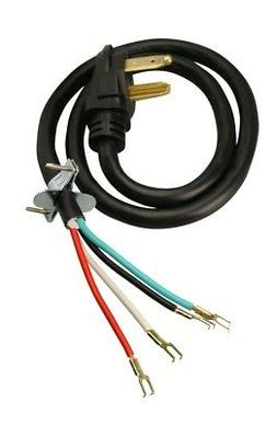 4-Wire Dryer Power Cord 5 Feet Long UL Approved - 30 amps