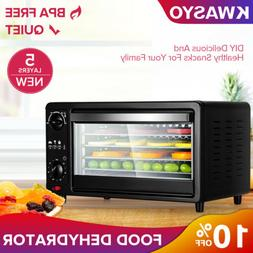 5 Tray Digital Electric Food Dehydrator Stainless Fruit Drye