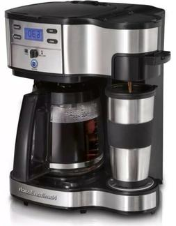 Hamilton Beach 49980A Coffee Maker, Single Serve, Black/Stai