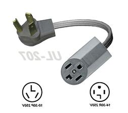 Dryer Power Cord Adapter Old 3-Pin 10-30P Plug To New 4-Pron