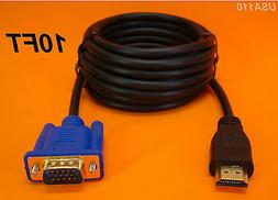HDMI VGA VIDEO ADAPTER CONVERTER CABLE / CORD 3M 10FT. GETWI
