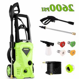 Homdox Pressure Washer, Power Washer with 2600 PSI,1.6GPM,