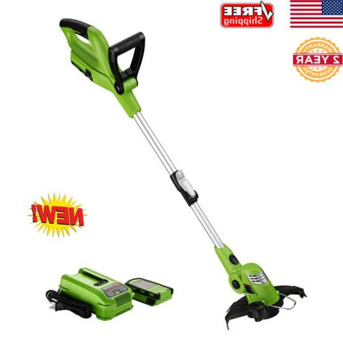 Adjustable Cordless String Trimmer Edger Lightweight 18V 10""