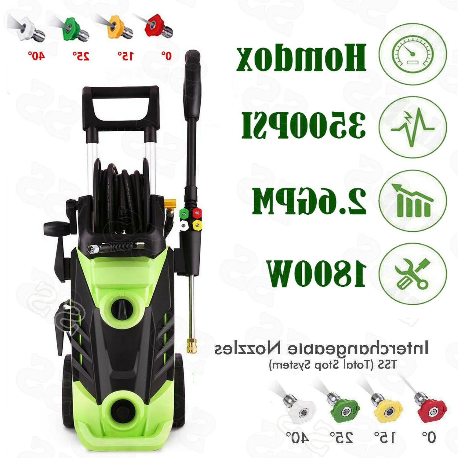 HOMDOX 3500PSI 2.6GPM Electric Pressure Washer Water Cleaner