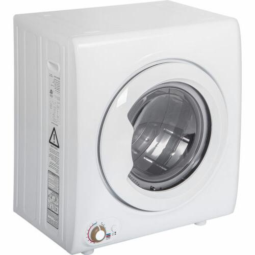 2.65 Cu.Ft Electric Compact Laundry Dryer 9LBS Capacity Port