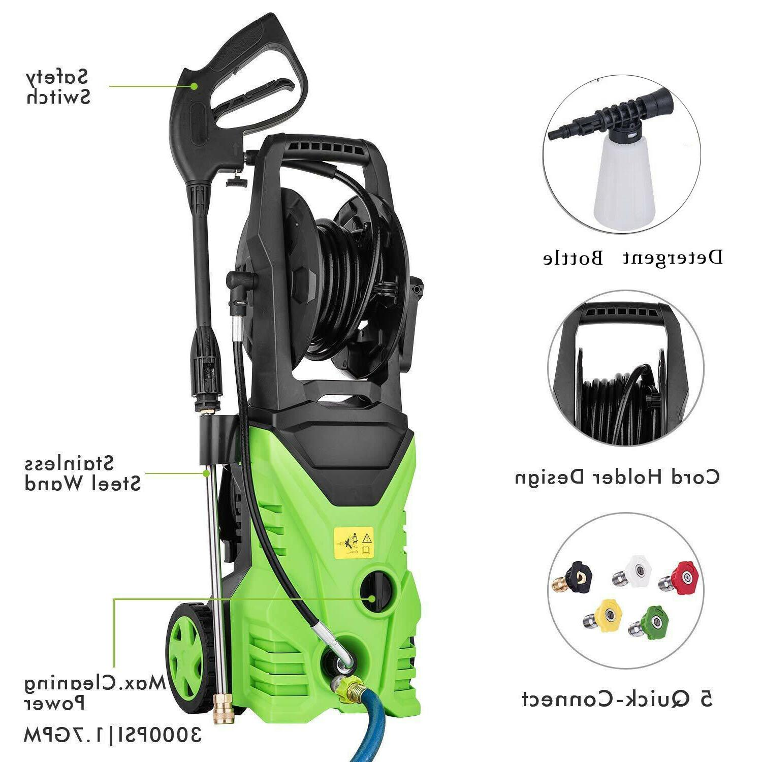 Homdox 3000PSI 1.8GPM Pressure Washer Electric Cleaner Jet Kit